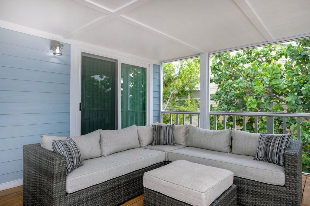 Relax to Island Breezes in Sectional Seating on the Deck