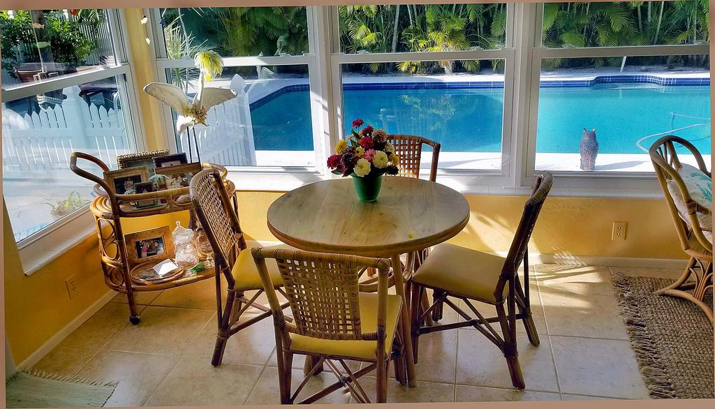 Breakfast Nook or Game Table with Pool View