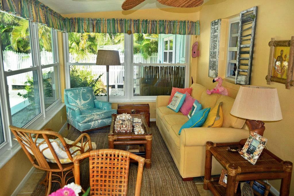 Bright and Cheery Sunroom With Space to Relax