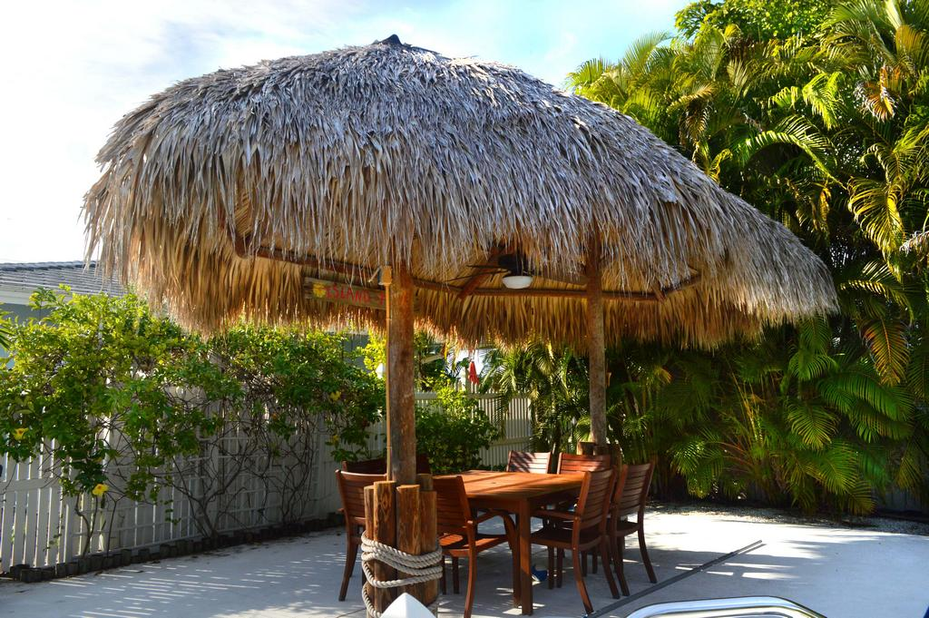 Take your meal outside in the shaded Tiki with comfort fan