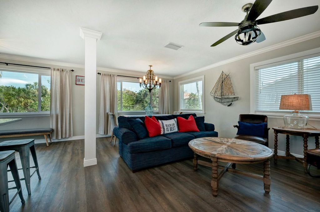 Retreat to Comfortable Seating in the Living Area