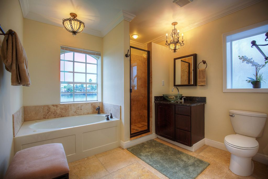 Luxury Master Bathroom with Shower and Garden Tub