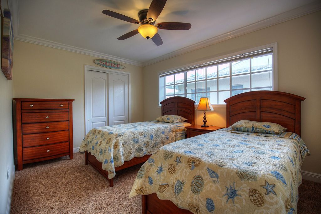 Twin Beds in the Third Bedroom