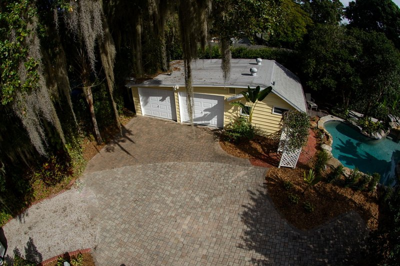Aerial View of Guest House.