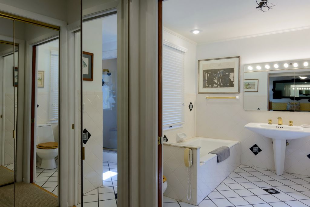 Master Bath offers Spa Tub and Walk-In Shower