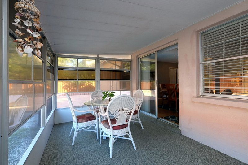 Lanai Seating for Dining or Relaxing in the Shade.