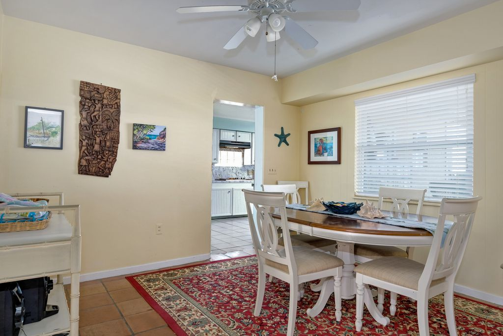 Dining  Area with View of Beach