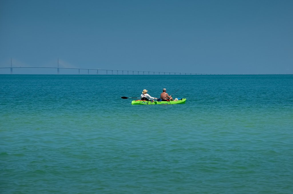 Kayak from the Beach Outside.