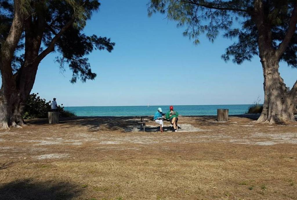Enjoy the Shaded Park with Bay Views