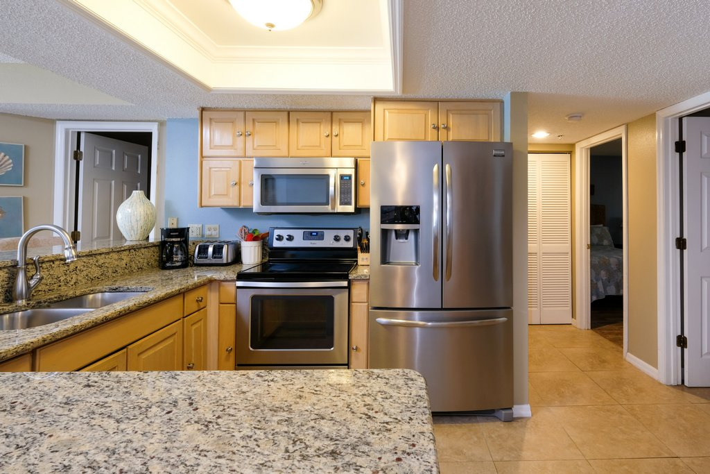 Stainless with Granite Countertops