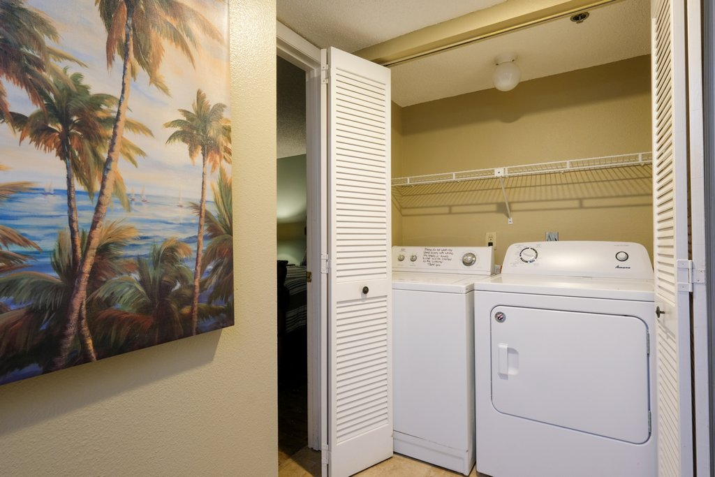 Laundry with Washer and Dryer in the Unit.