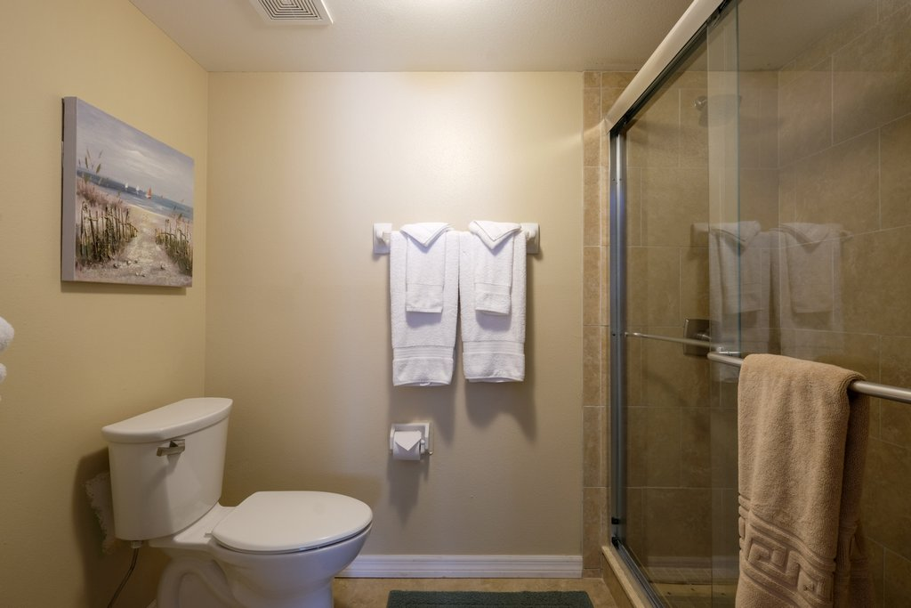 Master Bath with Private Toilet and Walk-In Shower