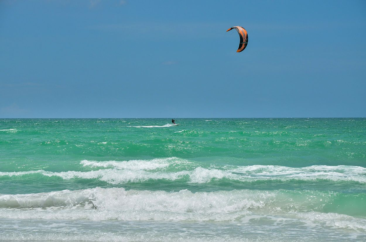 Kiteboarding on the Gulf