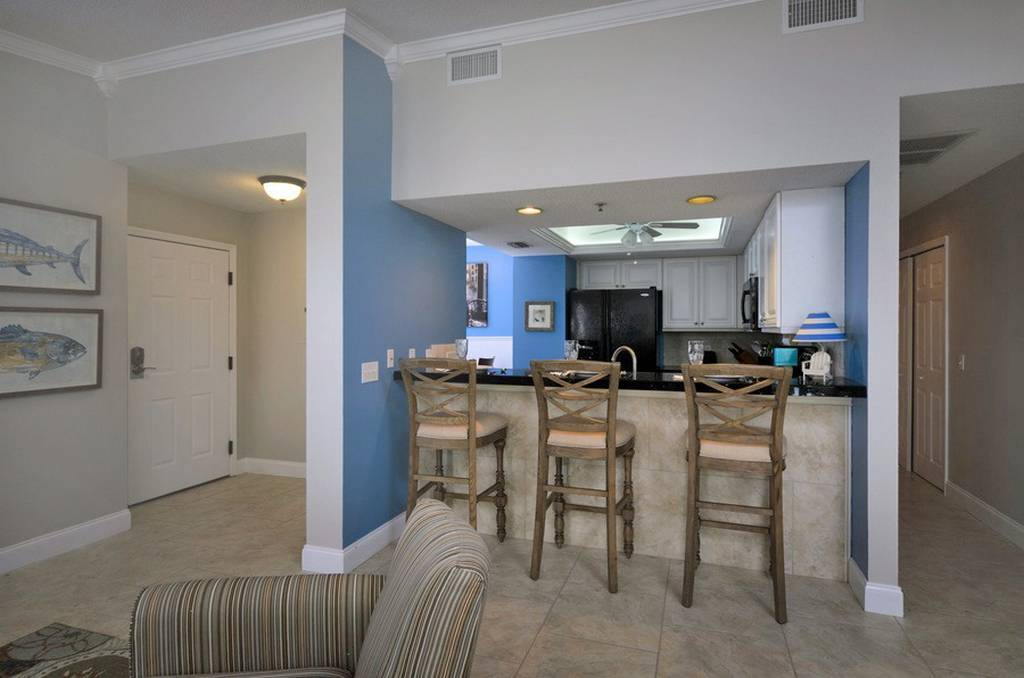 View of Entry, Kitchen and Breakfast Bar