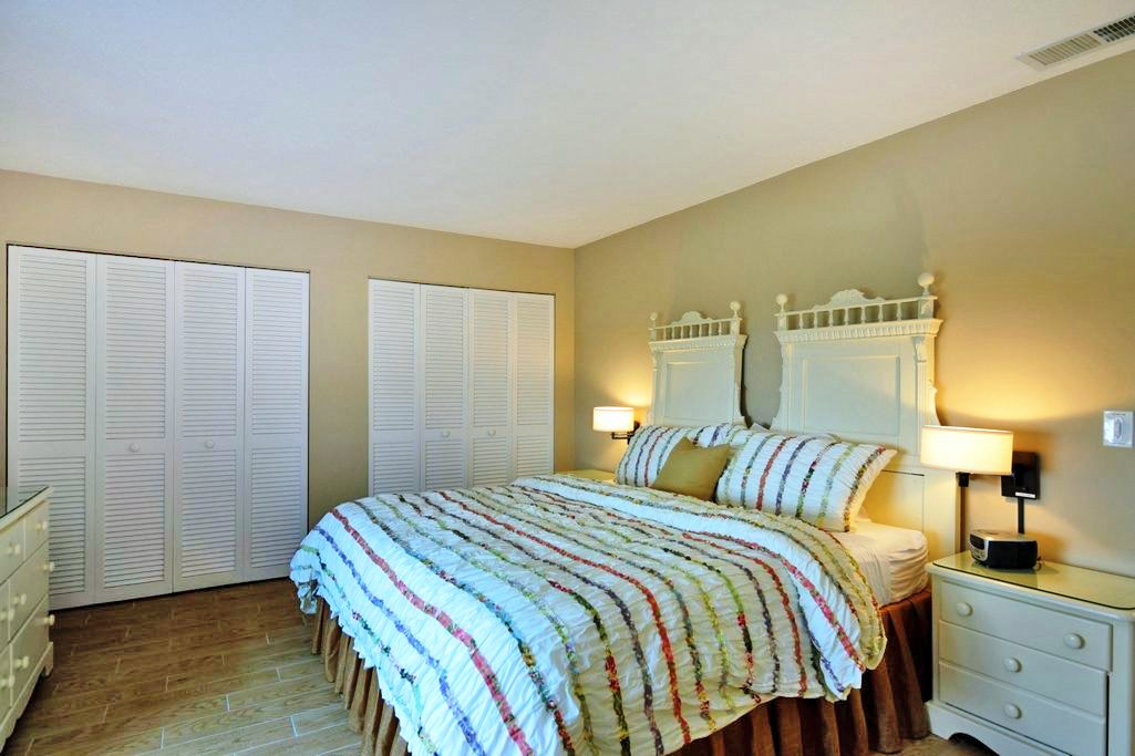 Master Bedroom with Double Closet Space