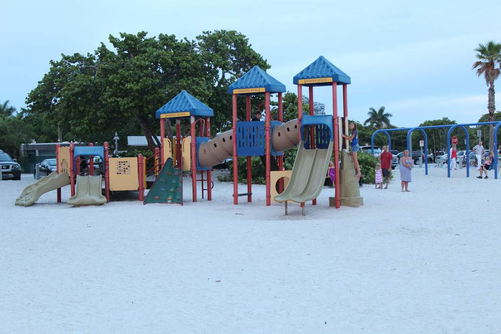 Playtime for the Kids at the Public Beach
