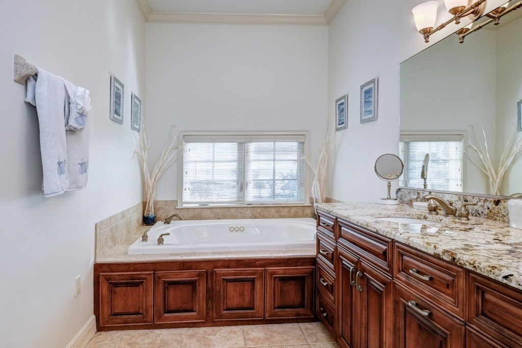Master Bath with Garden Spa Tub and Walk-In Shower