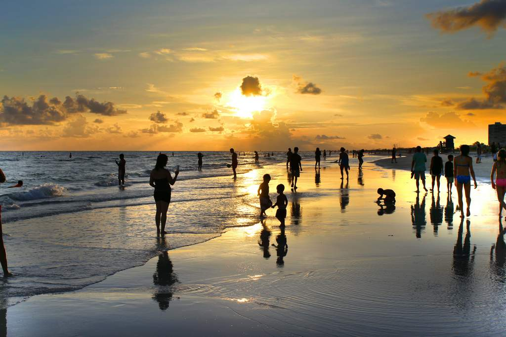 Stroll the Beaches at Sunset