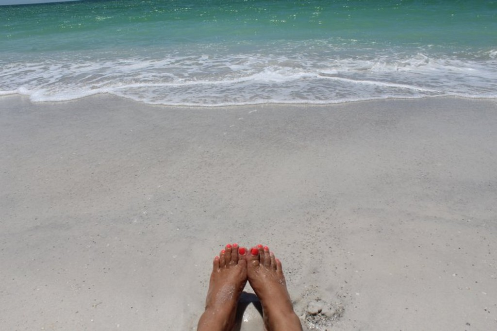 Relax on the Shore with Toes in the Sand